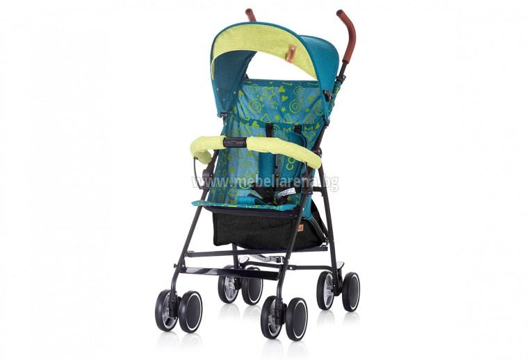 Лятна детска количка Коко - океан лен